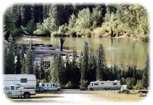 Campground with fishing on the Little Susitna River
