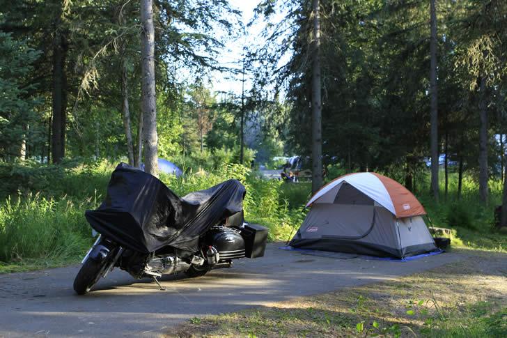 Tent Camping Along The Alaska Highway Alaska Campgrounds