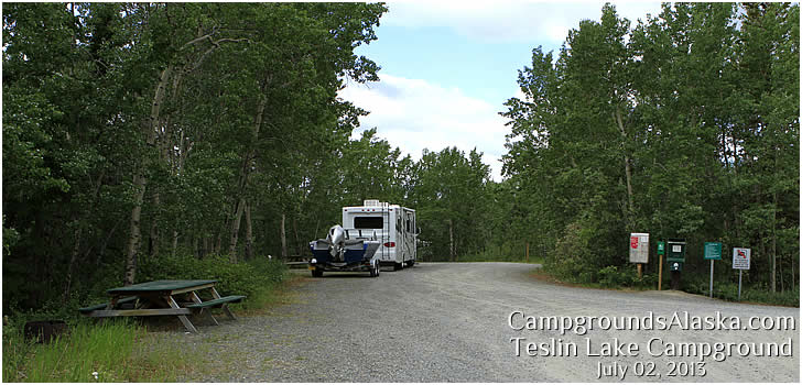 Teslin Lake Campground along the Alaska Hwy in the Yukon.