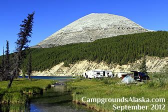 Summit Lake Provincial Campground. Check out Stone Mountains Pass on the Alaska Highway in British Columbia between Fort Nelson and Muncho Lake.