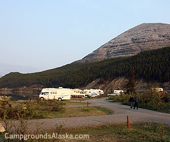 Alaska Hwy, Summit Campground in the Stone Mountains.