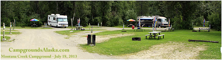 Fishing is great at Montana Creek Campground on the Glenn Highway in Alaska.
