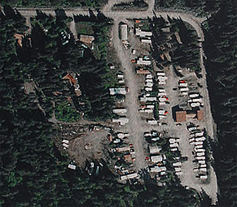 Bear Creek RV Park in Seward Alaska.