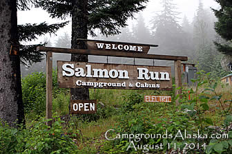 Salmon Run Campground and Cabins in Haines AK.