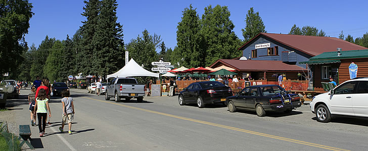 Camping in Talkeetna Alaska is very popular with residents and visitors alike.