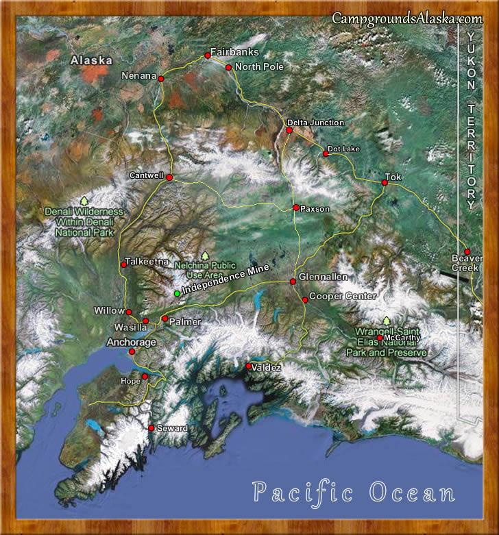 Road Map Of Alaska - Alaska road map