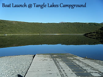 Boat Launch at Tangle Lakes Campground.