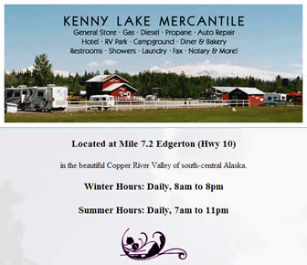 Kenny Lake Mercantile and RV Park.