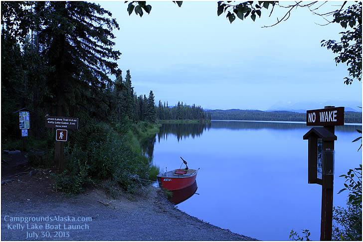 Kelly Lake Campground On The Kenai Peninsula In Alaska