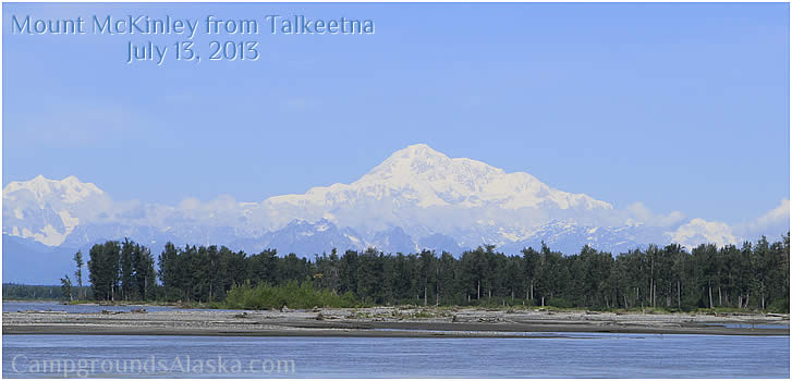 View of Mount McKinley from Talkeetna Alaska